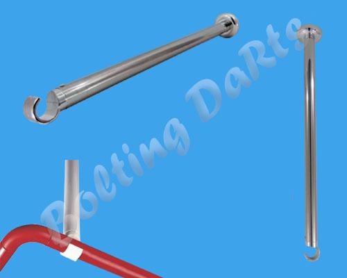 White Shower Curtain Rail Ceiling Support 55cm Length Corner Rail Rod Bath Pole Ebay