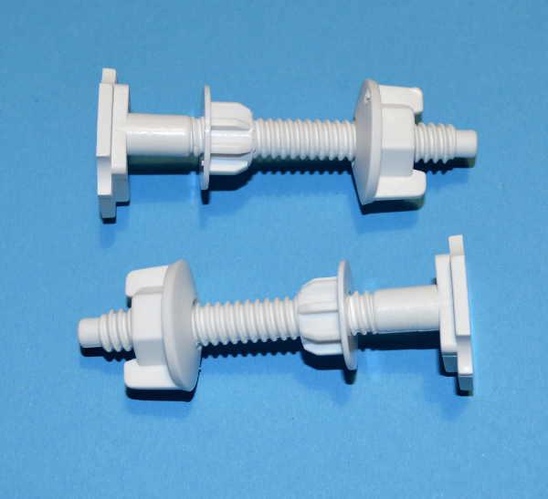 2 Toilet Seat Fixings Screws Nuts Washers Stabilisers