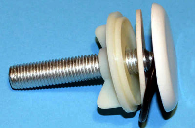 White Kitchen Sink Tap Hole Blanking Metal Plug 50mm Plate