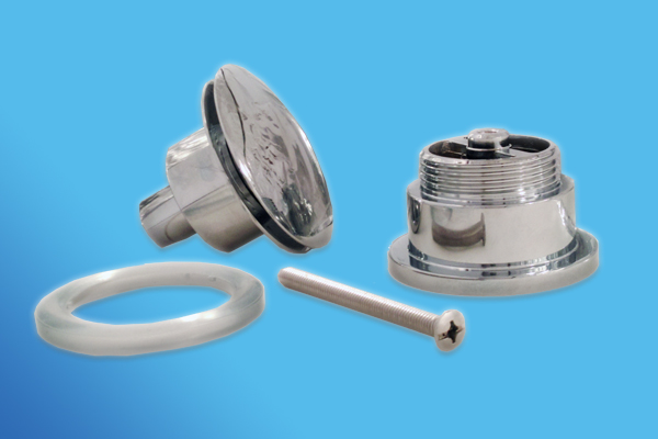 Chrome mono tap bath mixer brass click clack plug fixings