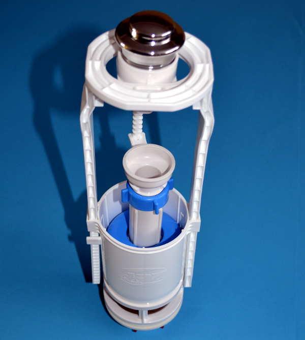 Details about Toilet Flush Adjustable Cistern Syphon Valve Chrome Push ...